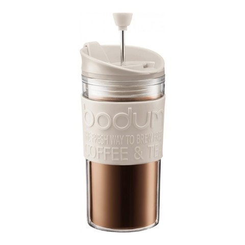Кружка с прессом Bodum Travel (0,35 литра), белая