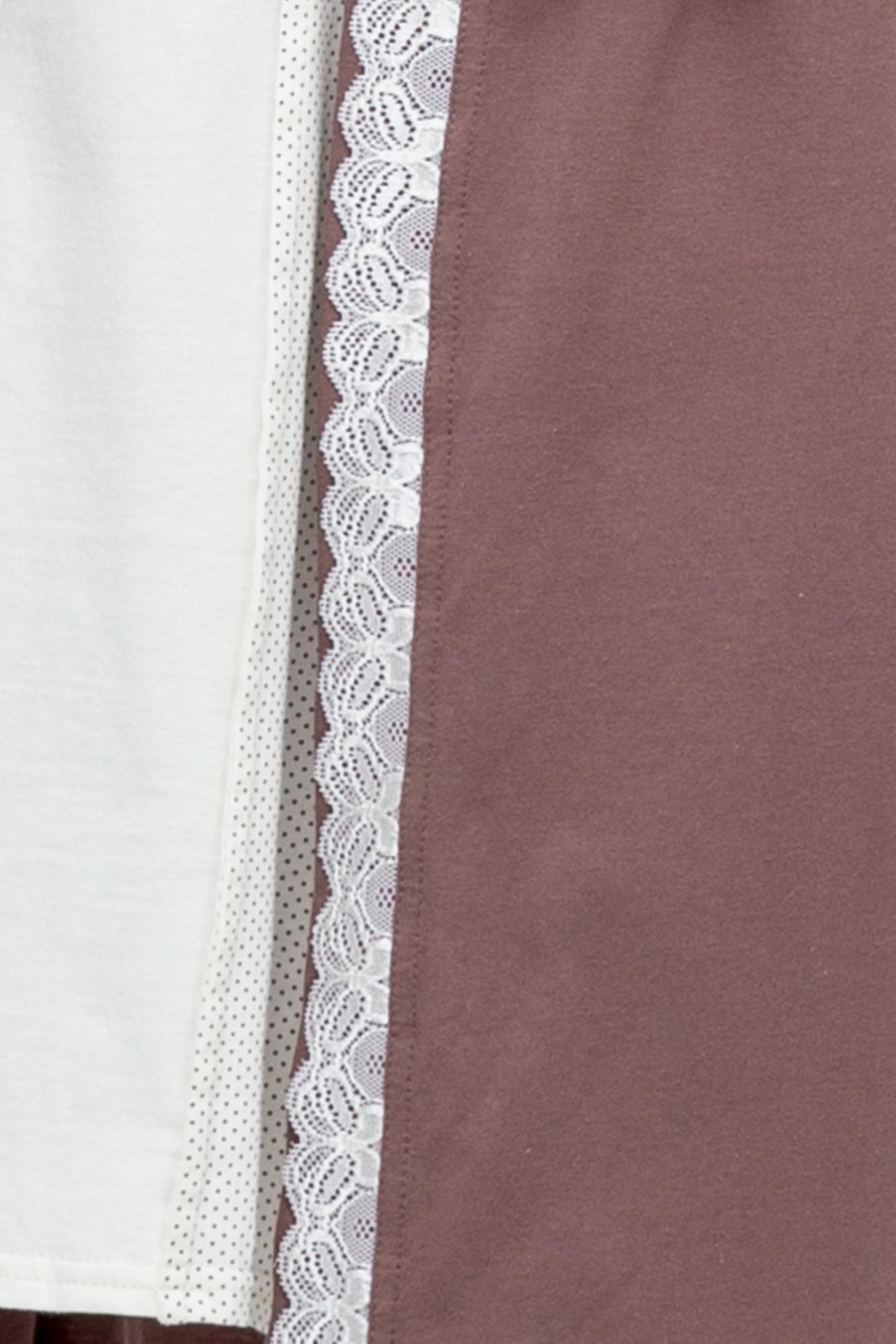 Комплект для беременных и кормящих с халатом и сорочкой 08211 капучино