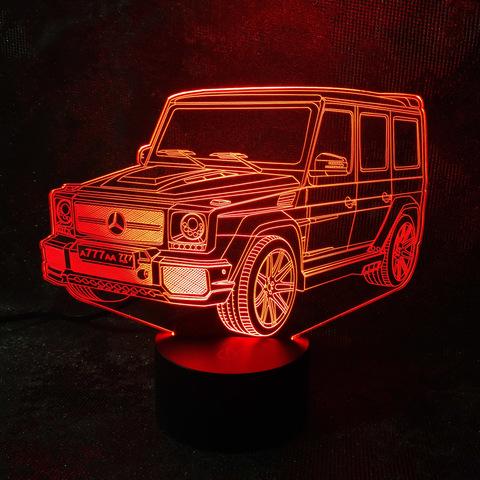 3D светильник Мерседес Гелендваген