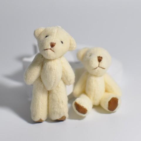 Іграшка для ляльки 6 см - ведмедик молочний