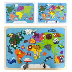 Деревянная мозаика Карта мира