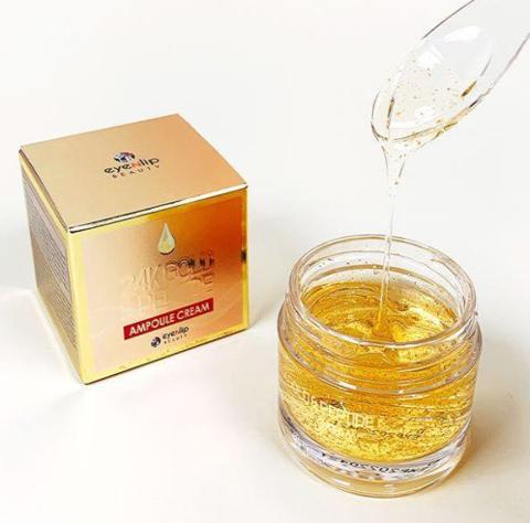 Ампульный лифтинг-крем с пептидами и золотом Eyenlip 24K Gold & Peptide Ampoule Cream