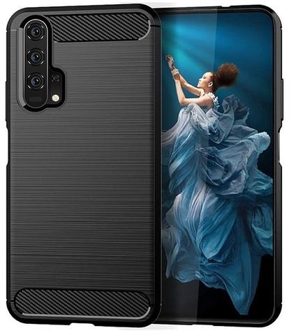 Чехол Carbon для Honor 20/20S/20Pro/Huawei Nova5T серия Карбон | черный