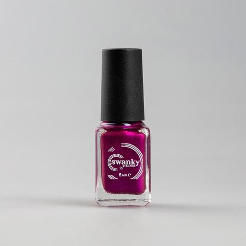 Лак для стемпинга Swanky Stamping M10, красно-пурпурный, 6 мл.