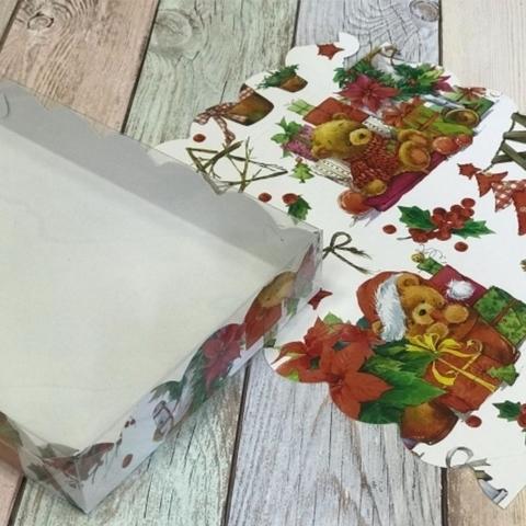 Коробка для печенья и пряников 20*12*3,5см(XMAS)