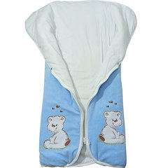Папитто. Конверт-одеяло на молнии с вышивкой, голубой