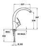 Смеситель TEKA MC-10 PLUS 915 Топаз бежевый - схема