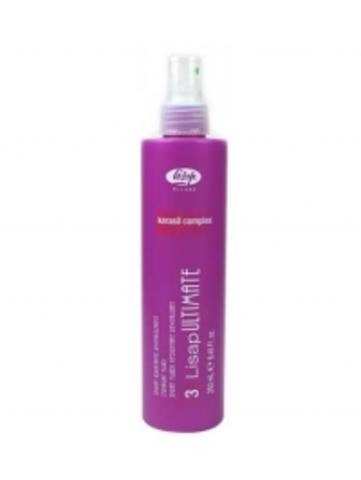 Разглаживающий, термозащищающий флюид для волос - 3-Lisap Ultimate Straight Fluid 250 мл