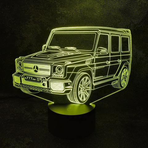 3D лампа Мерседес Гелендваген