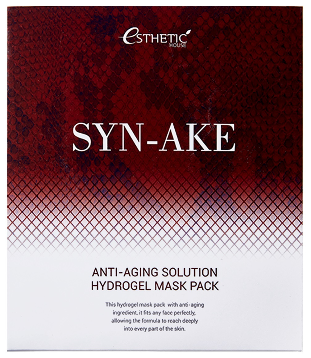 ESTHETIC HOUSE Гидрогелевая маска для лица  с пептидом змеиного яда, ESTHETIC HOUSE,  SYN-AKE ANTI-AGING SOLUTION HYDROGEL MASK PACK 011862.jpg