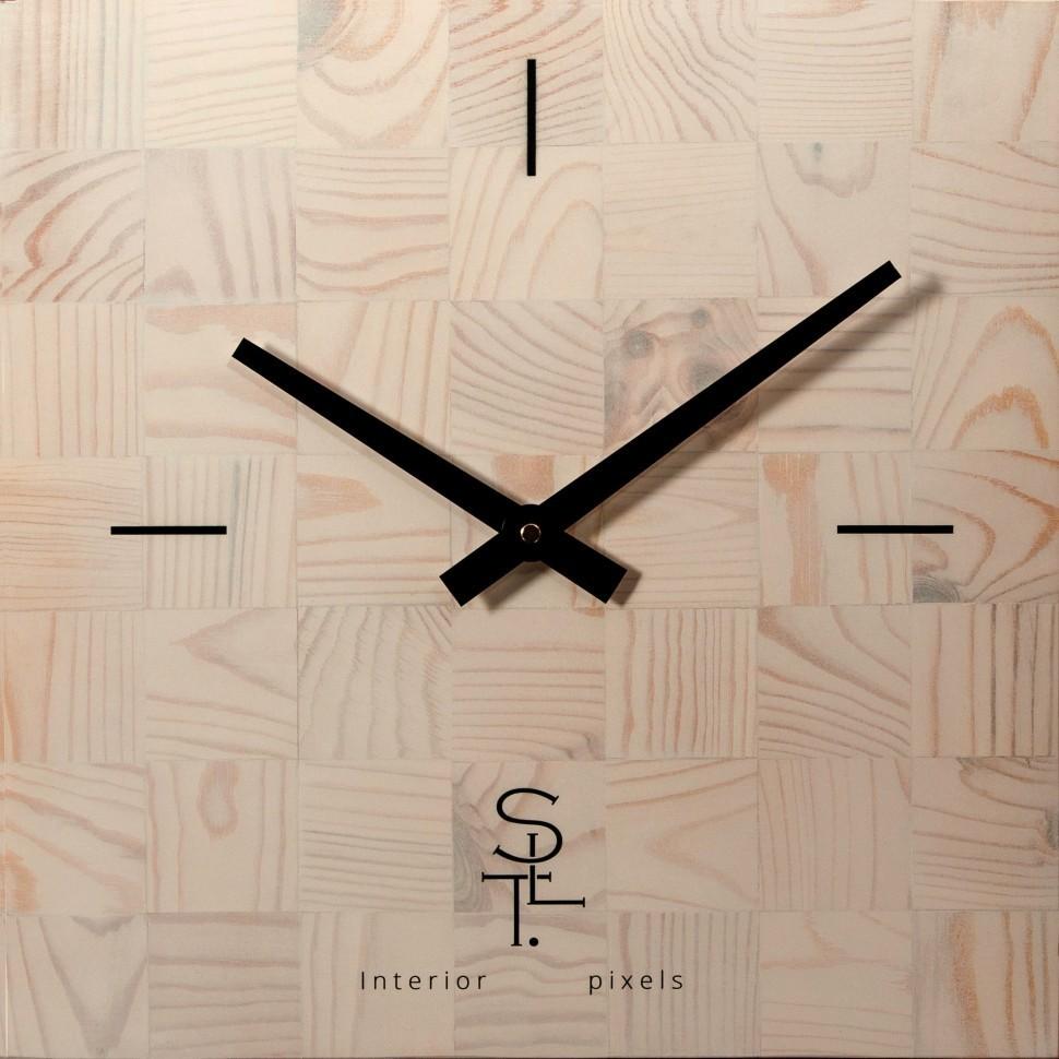 Настенные часы Салют SLT 5196  CHESS WHITE WOOD