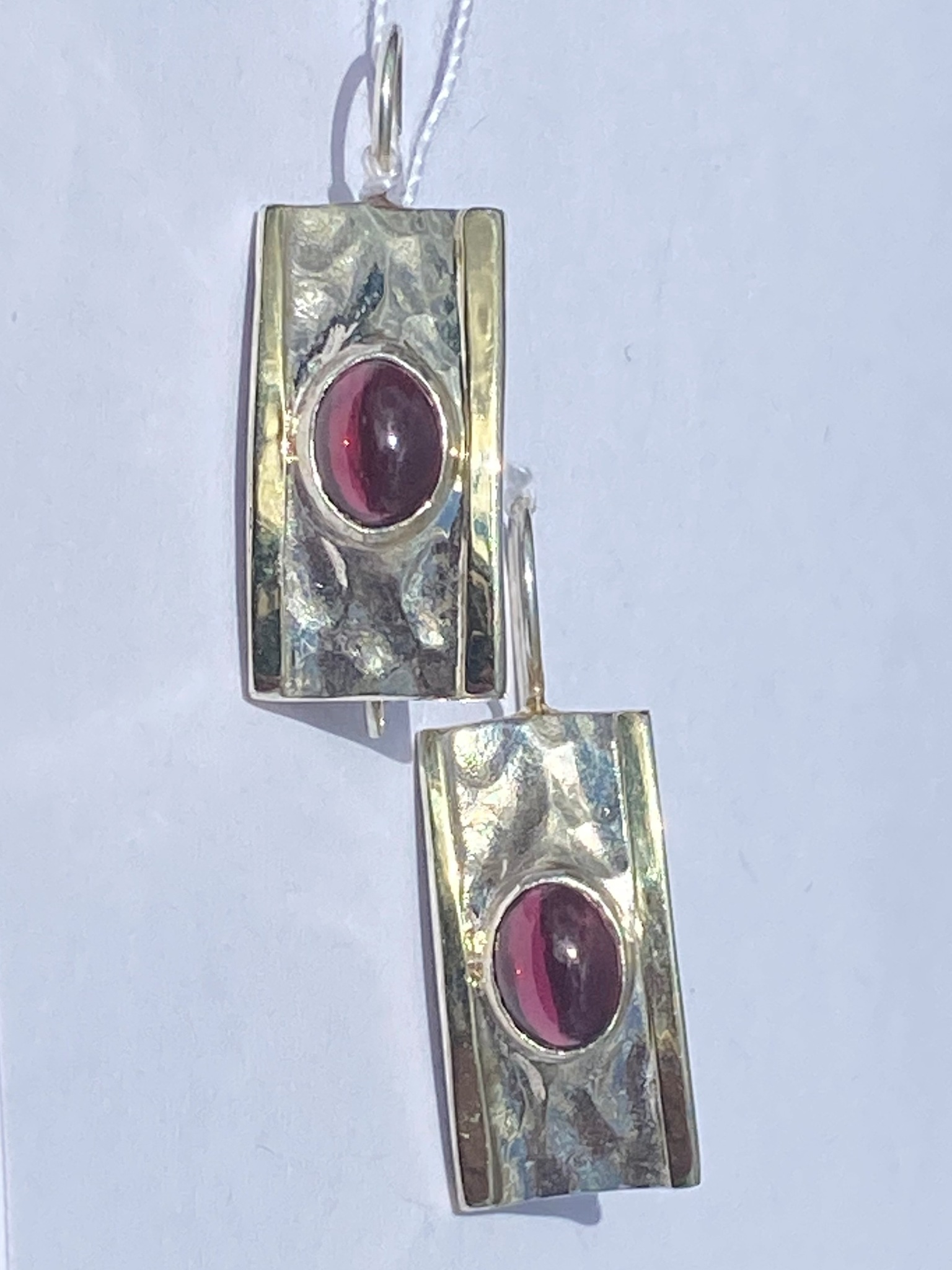 Гранат 1621 (серьги из серебра/золота)
