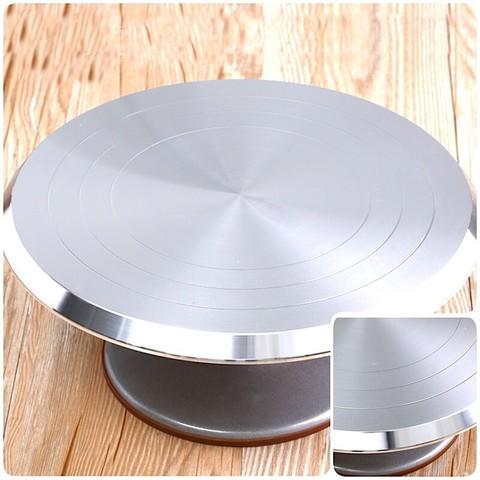 Стол поворотный, D36 H12 см (металл, цвет серый)