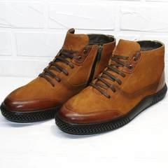 стильные зимние ботинки мужские на шнуровке