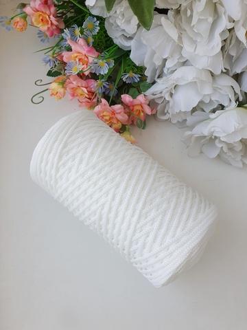 Белый Полиэфирный шнур 2 мм