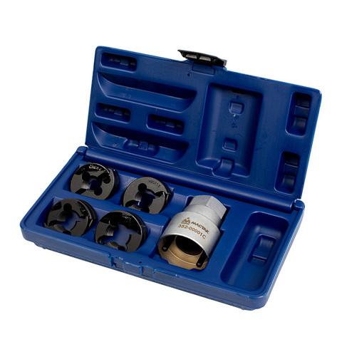 Набор для восстановления резьбы на колесных шпильках DAF / IVECO / MAN / RENAULT / VOLVO / MERCEDES, кейс, 5 предметов МАСТАК 352-00001C