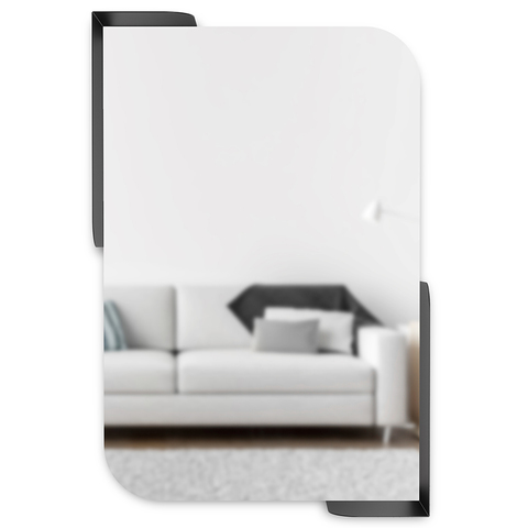 Зеркало Alcove 52 x 13 x 77 черный
