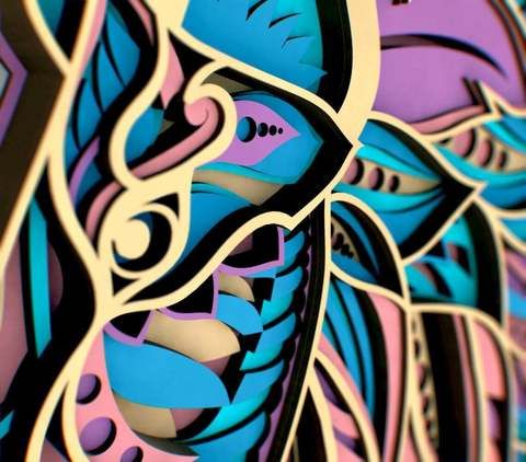 Удивительный Лев от SamCraft - сборные объемные 3D картины из дерева своими руками
