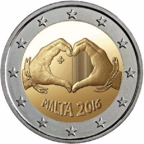 2 евро 2016 Мальта - Дети и солидарность: Любовь (сердце)
