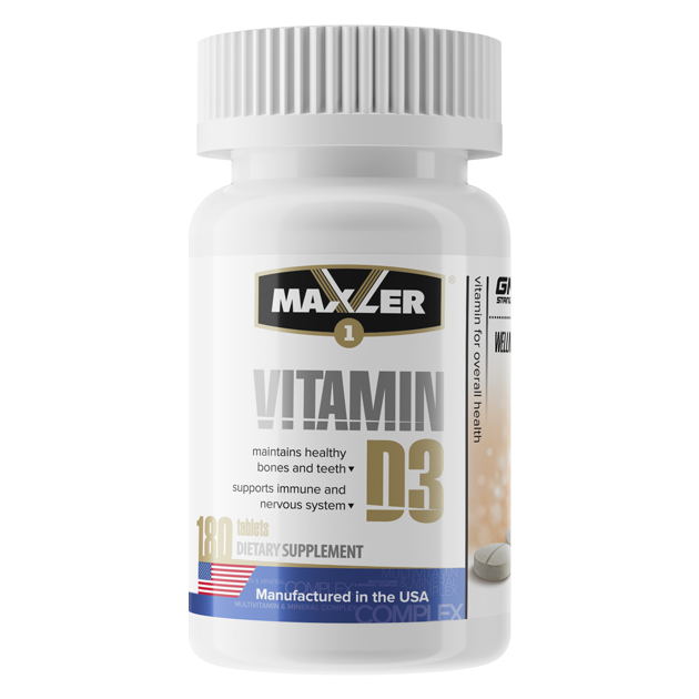 Vitamin D3 (180 таб.) (Maxler)