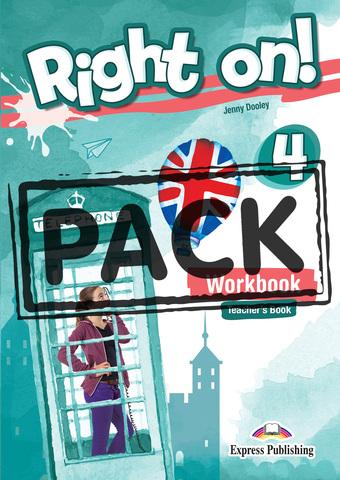 Right On! 4 Workbook Teacher's (with Digibooks App). Рабочая тетрадь для учителя (с ссылкой на электронное приложение)