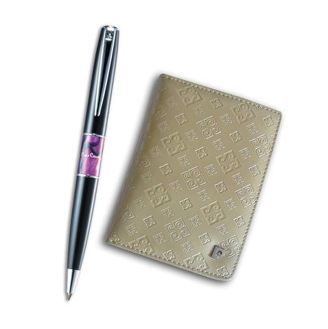 Набор подарочный Pierre Cardin  (PS1138GD) Black ST обложка для паспорта + шариковая ручка