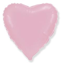 Шар сердце нежно-розовый