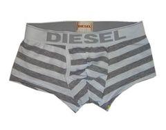 Мужские трусы боксеры Diesel Grey Stripe Boxer DIS0010