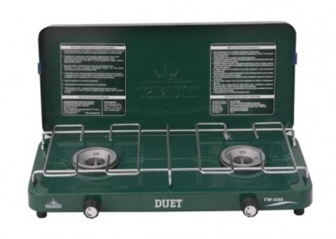 Газовая плита на 2 конфорки DUET (с кейсом), TW-030