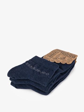 Носки короткие тёмно-синего цвета – тройная упаковка