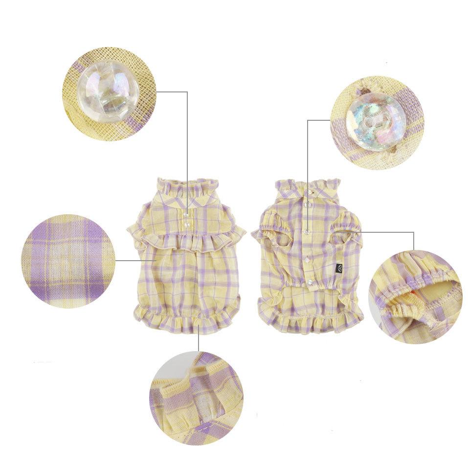 348 PA - Блуза для собак в клетку