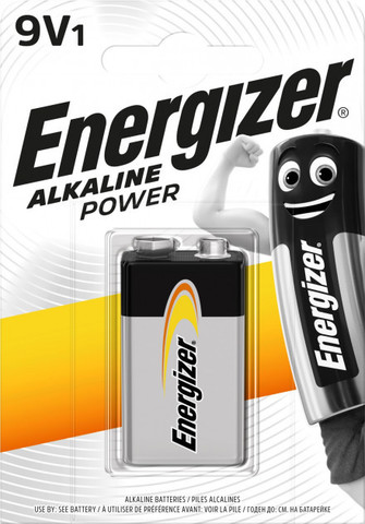 Батарейки Energizer 6LR61, 9V крона (1/10) BL
