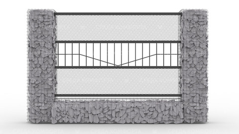 Забор из сетки рабицы 2500х2000 мм ZBR0179