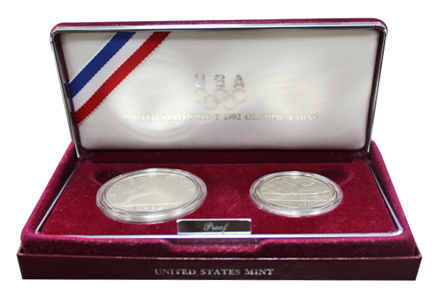 Набор 1 доллар и 50 центов 1992 год (S) XXV Летние Олимпийские игры в Барселоне, США. PROOF