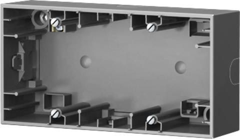 Коробка на 2 поста для наружного монтажа. Цвет Нержавеющая сталь. Berker (Беркер). K.5. 10527004