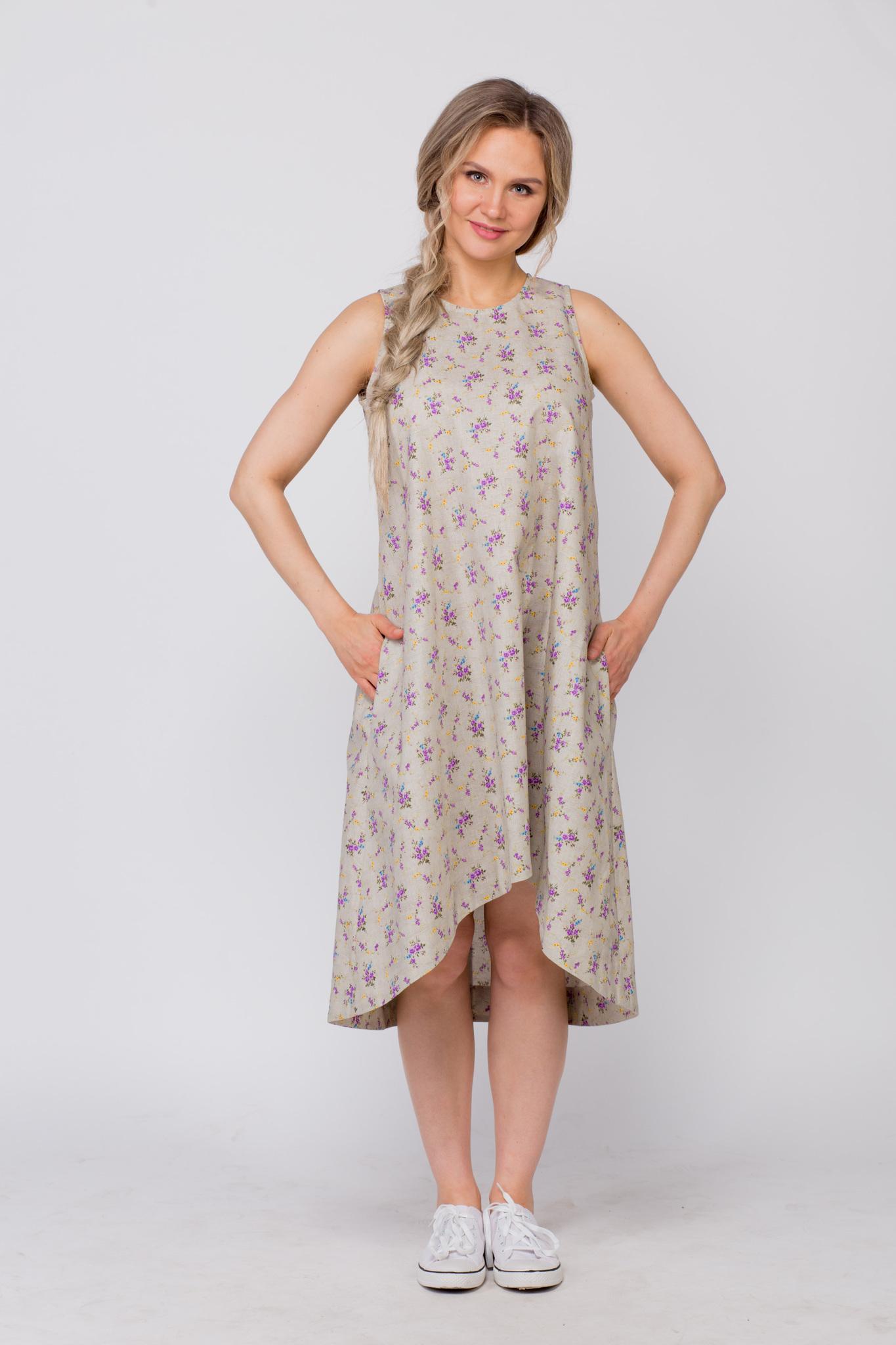 Платье льняное Очарование с кедами