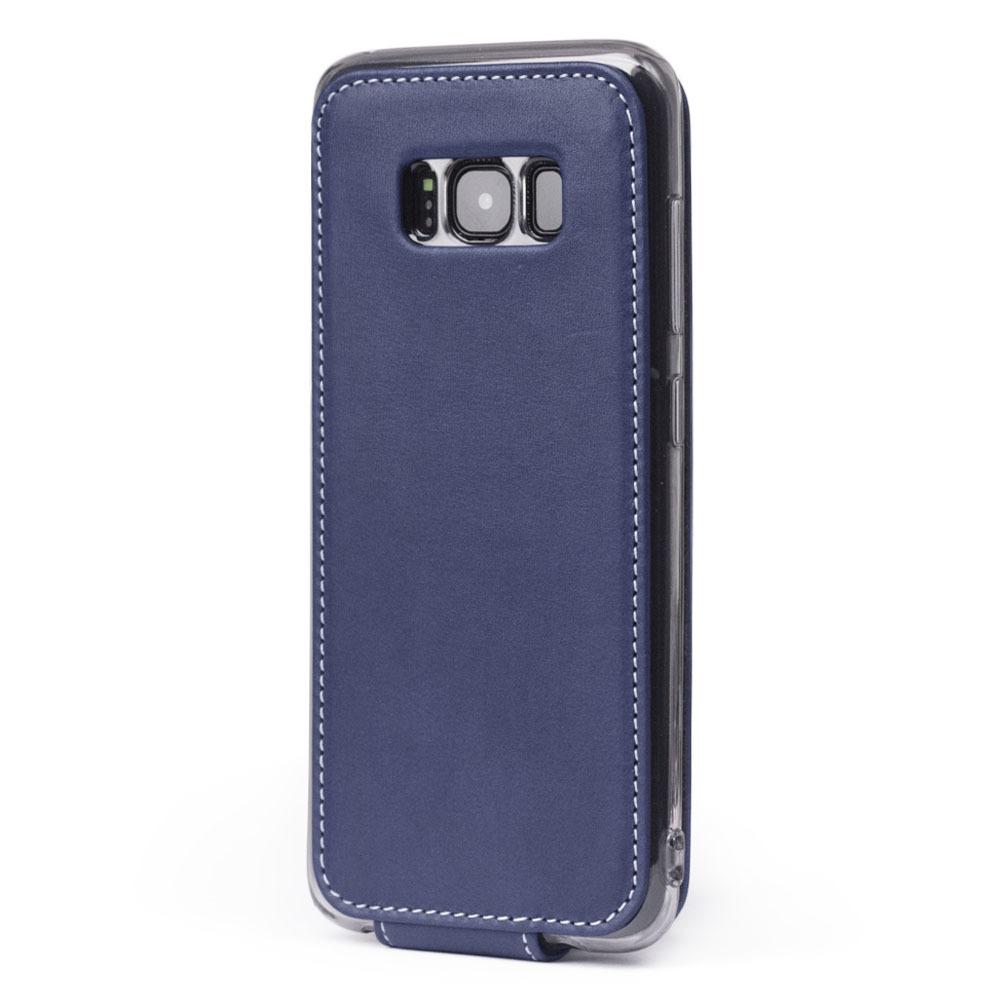 Чехол для Samsung Galaxy S8 из натуральной кожи теленка, синего цвета