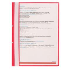 Скоросшиватель пластиковый с перфорацией Attache А4 до 100 листов красный (толщина обложки 0.11/0.15 мм, 10 штук в упаковке)