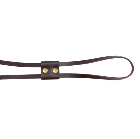 Кожаная утяжка 70 см темно-коричневая (бронза)