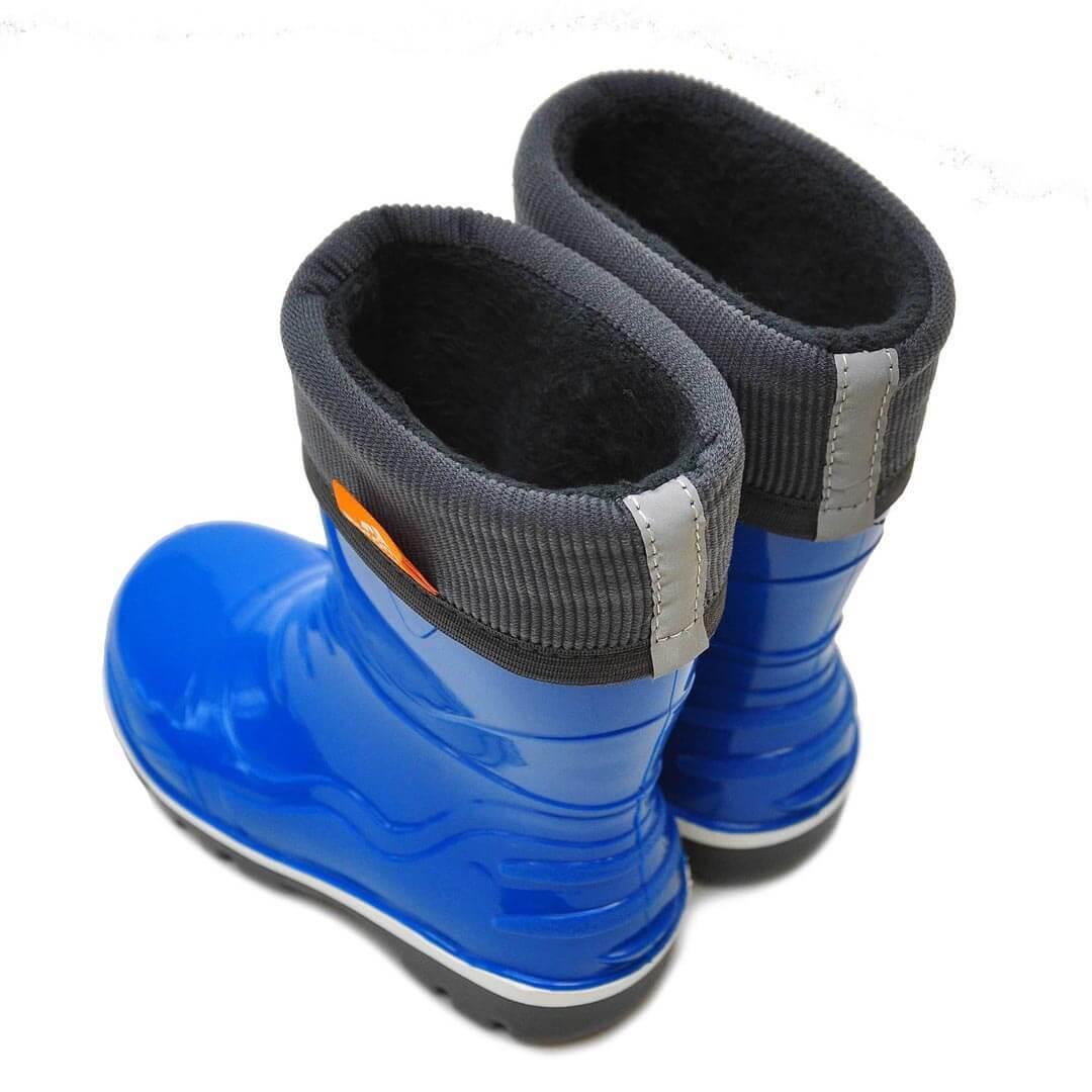 Детские резиновые сапоги с флисовым утеплителем Nordman Step синие