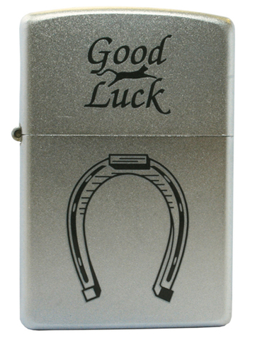 Зажигалка Zippo Horse Shoe, с покрытием Satin Chrome™, латунь/сталь, серебристая, матовая, 36x12x56123