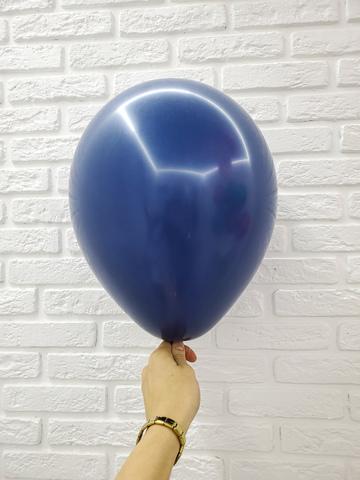 №21 Темно-синий Нави Гелиевый шар пастель 30см с обработкой