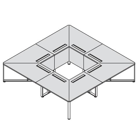 Стол квадратный 3200*3200 (OLLIE)