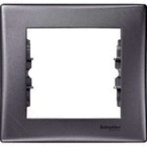 Рамка на 1 пост, IP44. Цвет графит. Schneider Electric Sedna. SDN5810170