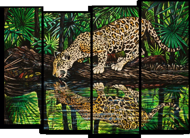 "Животные Модульная картина ""Ягуар"" М737.png"