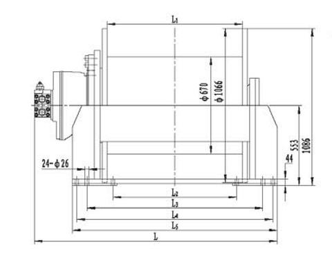Стандартная лебедка IYJ67-280-232-40-ZP