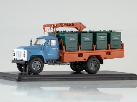 GAZ-53 M-30 Container garbage truck blue-orange 1:43 Start Scale Models (SSM)
