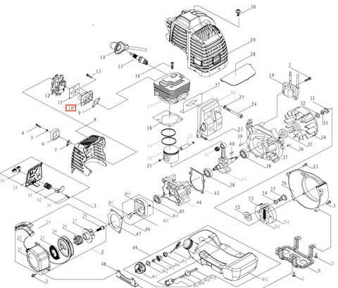 Клапан впускной в сборе для лодочного мотора T3,5 Sea-PRO