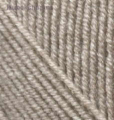Пряжа Alize Superlana KLASIK 207 светло-коричневый меланж - фото