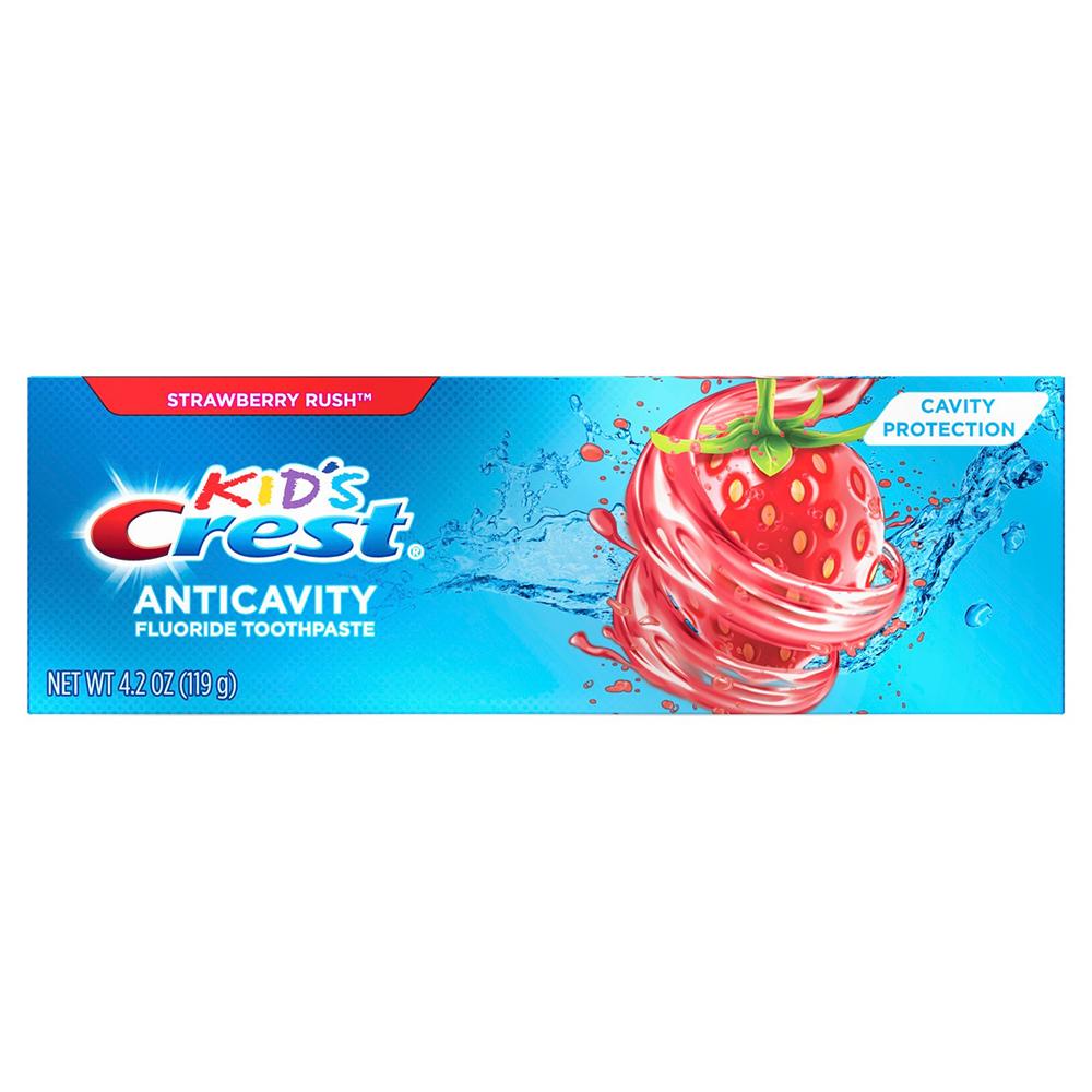 Детская зубная паста Crest Kids Anticavity Strawberry Rush 99 гр
